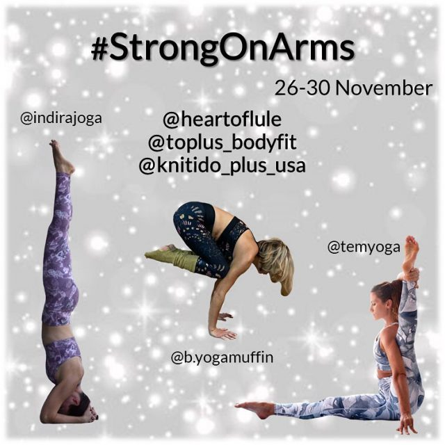 Let's play!!  🎉❤ NEW CHALLENGE ALERT ❤🎉   Join us from November 26-30.  for #StrongInYourBody 💛 Is your body so tight it's hard to reach over your head OR do you lack some strength when holding asanas? Join us for 5 days of stretching and/or strengthening techniques. Choose the variation that works for YOU or try them all!! It's up to YOU! ❤   👯♀️Hosts:  @temyoga @indirajoga  @b.yogamuffin  🎁Sponsors: @toplus_bodyfit @knitido_plus_usa @heartoflule  🧘🏻🤸🏻Poses are free of choice, but here is some guidance line up:  1. Strong wrists 2. Strong shoulders 3. Strong core  4. Strong legs  5. Strong  back  🙃Challenge Rules:  ✅Follow all hosts and sponsors. ✅Repost this flyer and tag some friends to play along. ✅Post daily using the hashtag #StrongInYourBody ✅Make sure your profile is public ✅Show your fellow participants and hosts some love! .  @quantumyoga@challengethyyoga   #yogachallenges #igyogacommunity #igyogachallenges #strongyoga