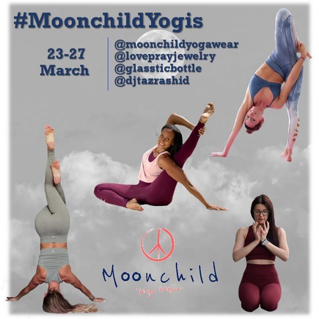 New Yoga Challenge: #MoonChildYogis 🌟 March 23-29   Moonchild yoga wear is a woman owned company that designs eco-friendly gear for both the active and leisure experiences throughout a yogis day.   Be a  moon child  yogi and share your yin or yang practice. You choose what to share based on the days theme: Yin or yang your:  1️⃣ Seated/Lying 2️⃣ Hip Opener 3️⃣ Inversion or fold 4️⃣ Heart Opener 5️⃣ Yogi's choice . Hosts: @temyoga  @indirajoga  @tania_romanenia  @jennyg2bfit . Our generous sponsors: @moonchildyogawear @loveprayjewelry @glassticbottle @djtazrashid . How to play: 1️⃣ Follow all hosts and sponsors. 2️⃣ Post daily with your bending or folding variation of the day's pose 3️⃣ Make sure to use our challenge hashtag #MoonchildYogis and tag all hosts and sponsors in your caption so that we can see your posts .  #yogachallenge #igyogachallenge #moonchildyogawear